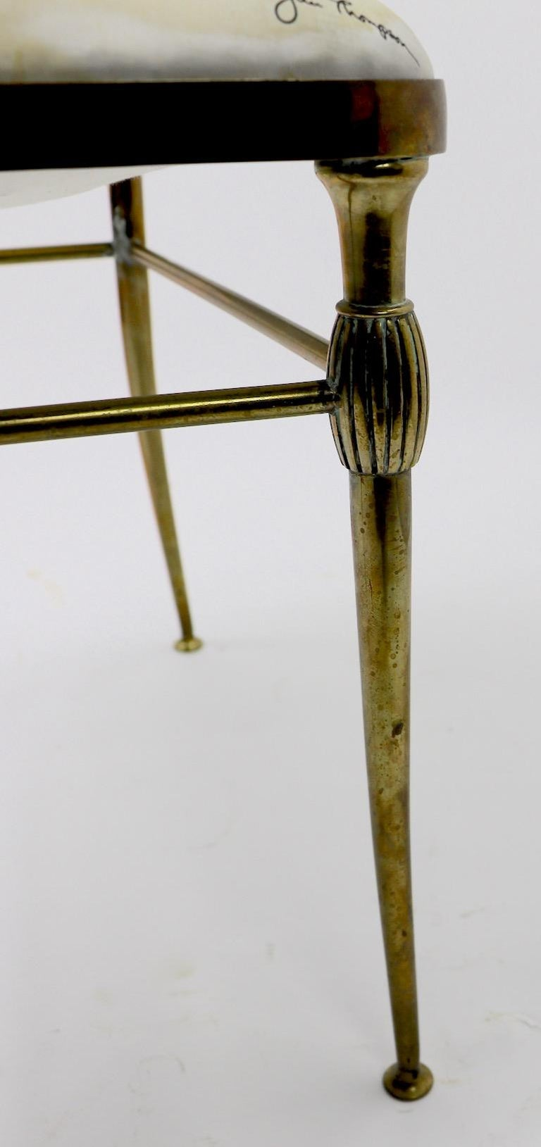 Neoclassic Italian Brass Chair by Chiavari For Sale 2