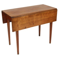 Neo Classical Fruit Wood Drop Leaf Table