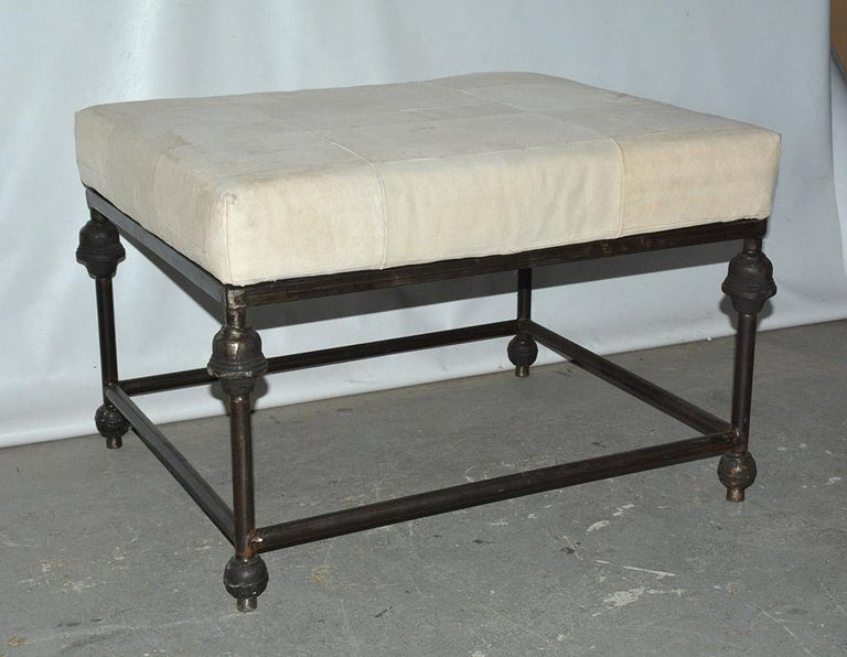 Neoclassical Revival Neo-Classical Iron Base Stool For Sale