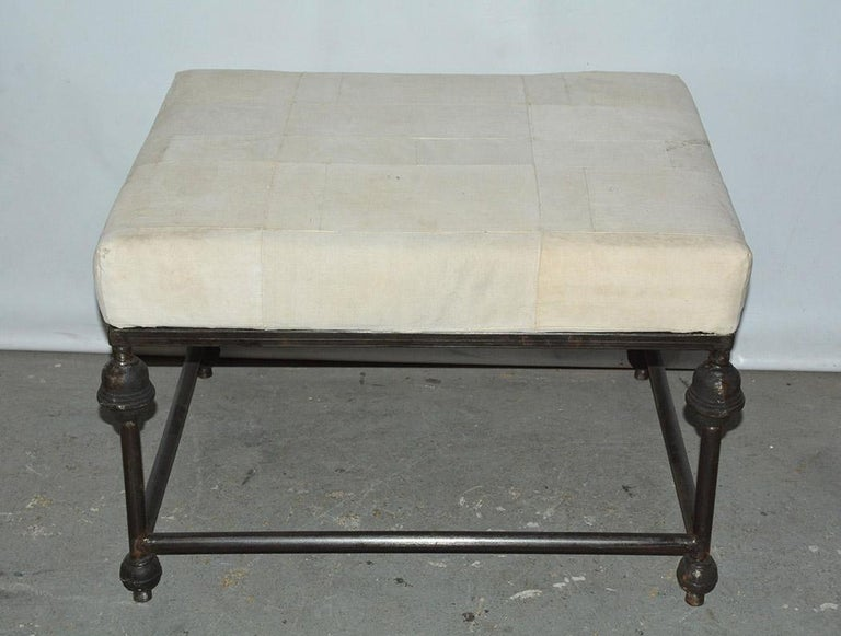 American Neo-Classical Iron Base Stool For Sale
