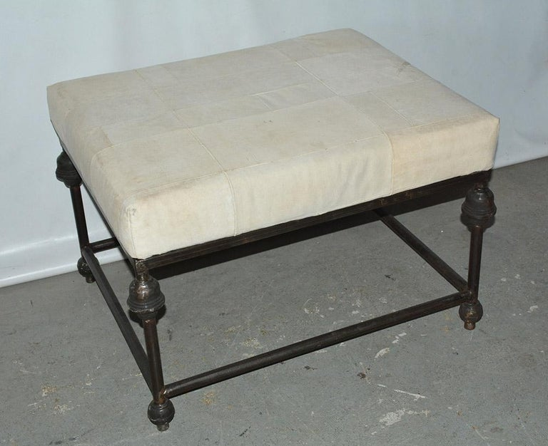Neo-Classical Iron Base Stool In Good Condition For Sale In Great Barrington, MA