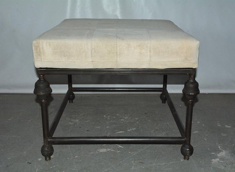 20th Century Neo-Classical Iron Base Stool For Sale
