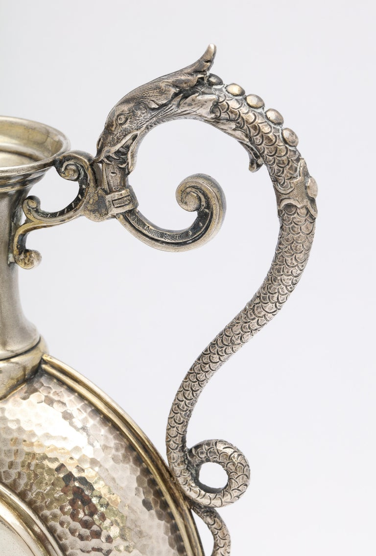 Neoclassical Style Continental Silver '.800' Ewer/Pitcher For Sale 3