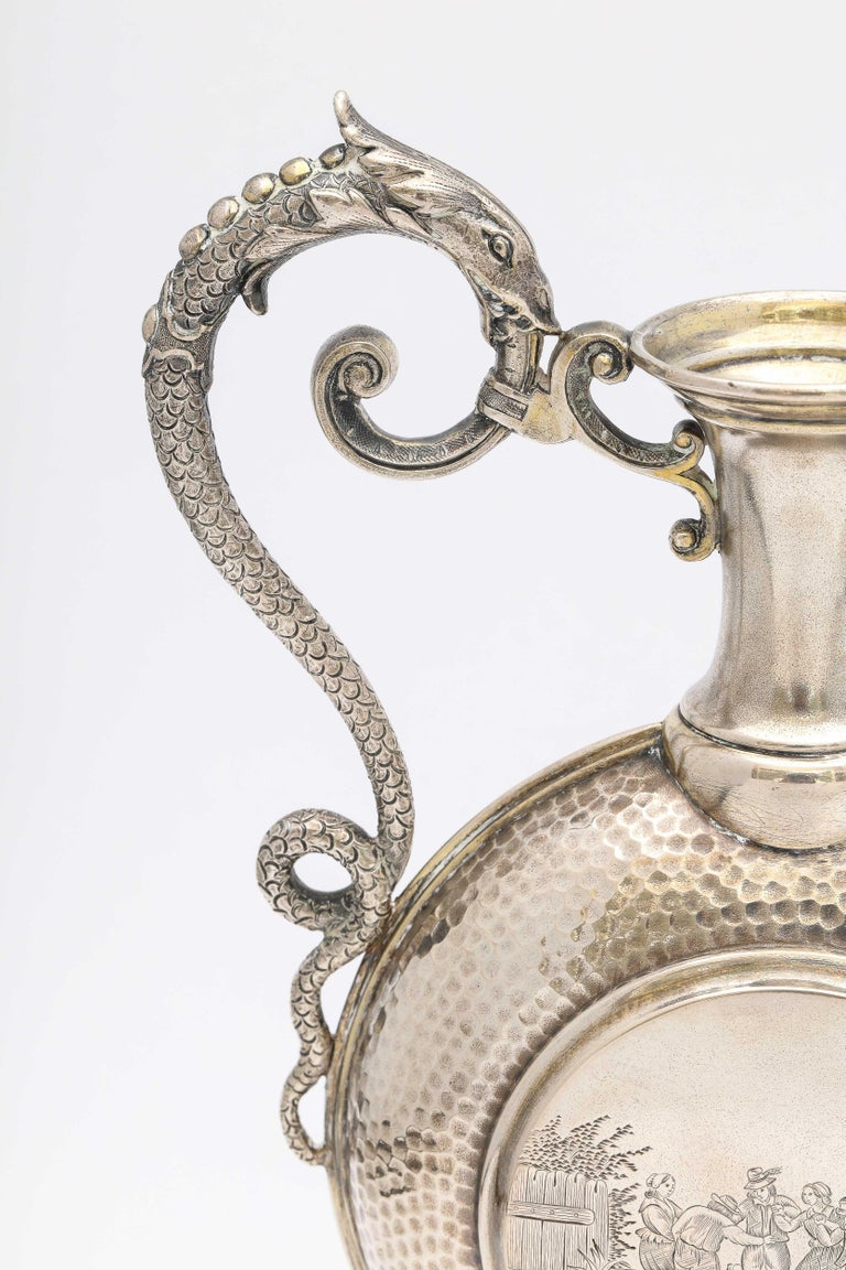 Neoclassical Style Continental Silver '.800' Ewer/Pitcher For Sale 7