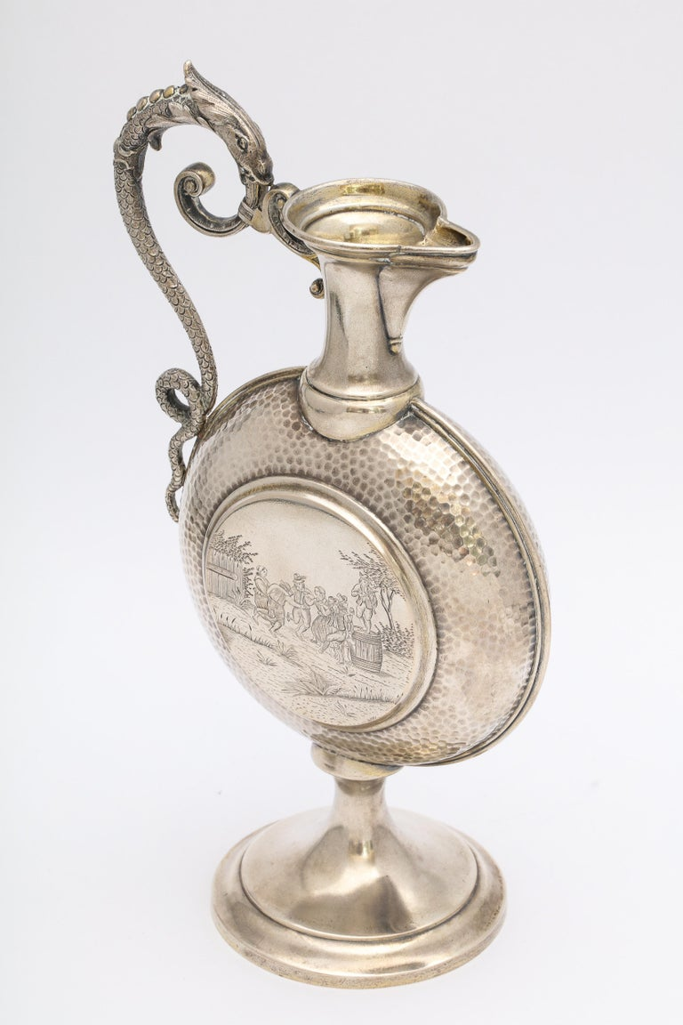 Neoclassical Style Continental Silver '.800' Ewer/Pitcher For Sale 9