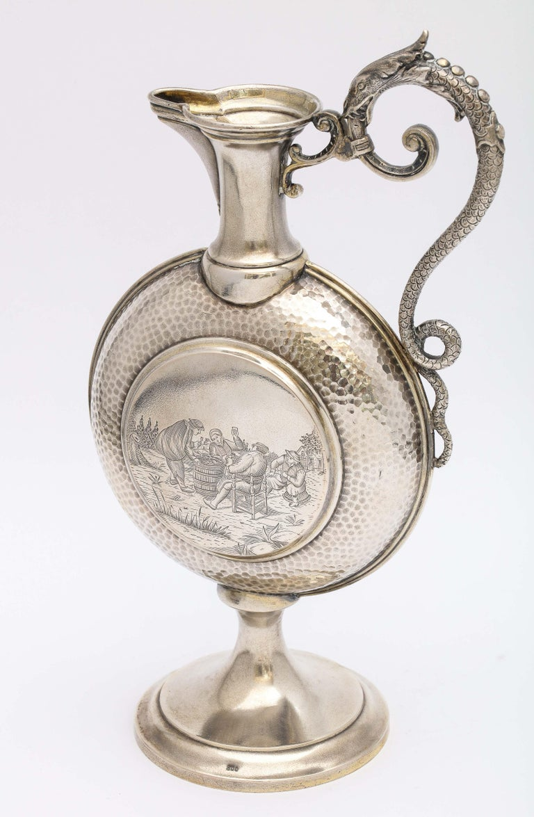 Neoclassical Revival Neoclassical Style Continental Silver '.800' Ewer/Pitcher For Sale