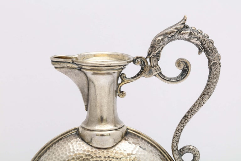 European Neoclassical Style Continental Silver '.800' Ewer/Pitcher For Sale