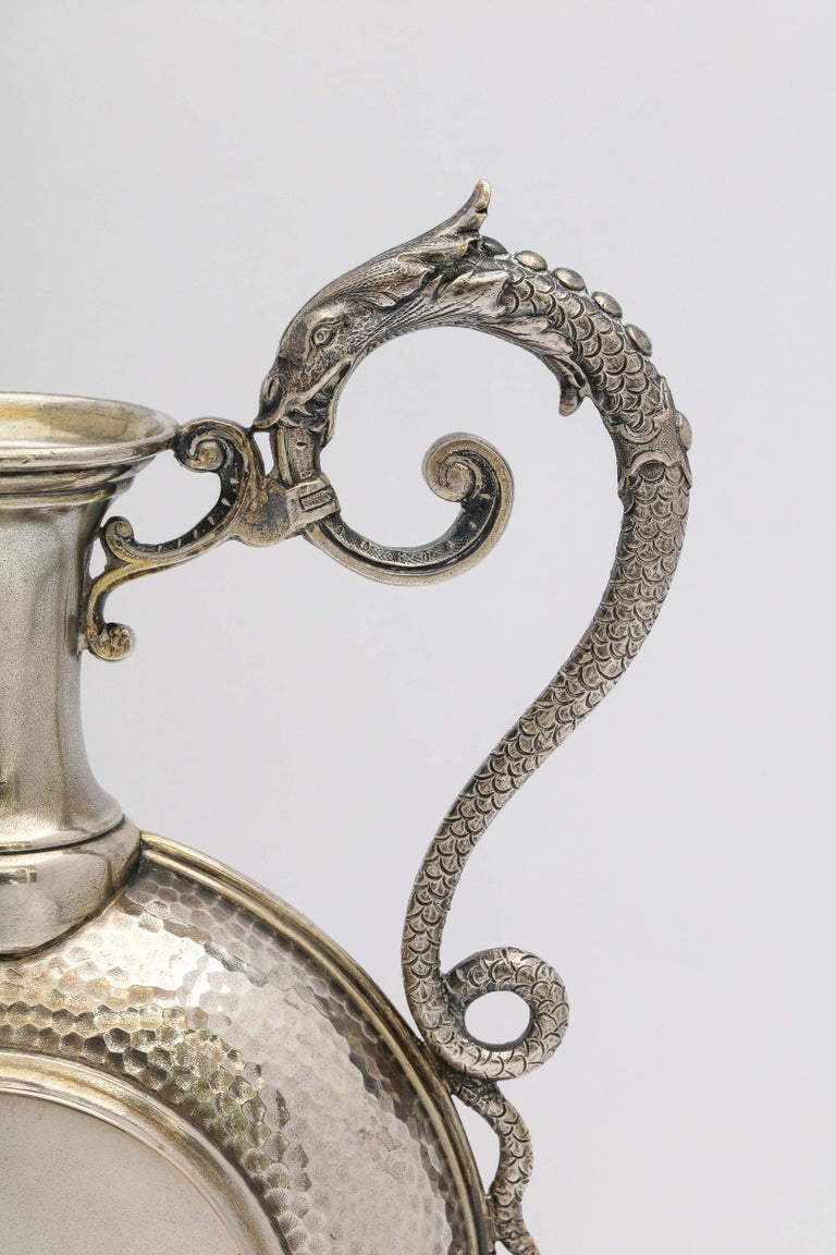 Sterling Silver Neoclassical Style Continental Silver '.800' Ewer/Pitcher For Sale