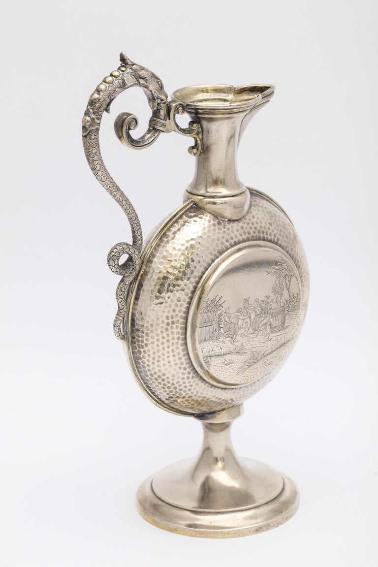 Neoclassical Style Continental Silver '.800' Ewer/Pitcher For Sale 1