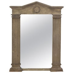 Neoclassical Style Mirror Painted in Gray, Modern