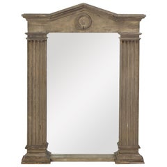 Neo-Classical Style Mirror Painted in Gray, Modern