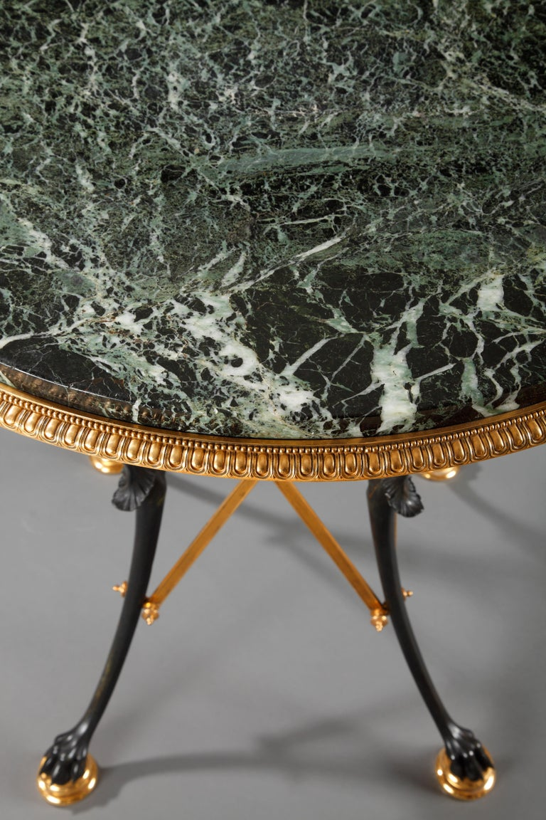 French Neo-Greek Center Table Attributed to L.C. Sévin and F. Barbedienne For Sale