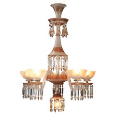 Neo-Greek Opaque Crystal Chandelier Attributed to Baccarat, France, Circa 1890