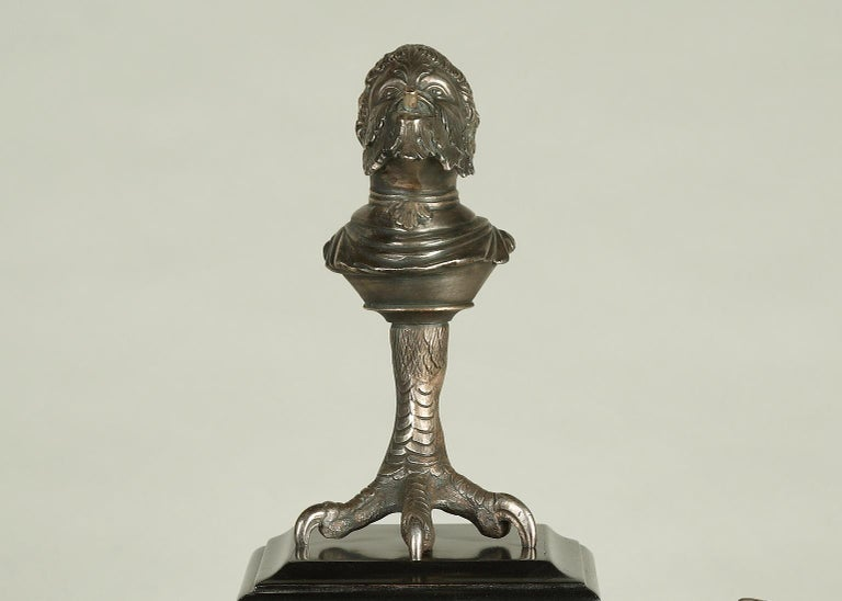 French Neo-Greek Inkwell by C.G. Diehl, E. Frémiet and J. Brandely For Sale