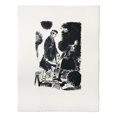 Dickicht, Lithograph on Museum Board, Contemporary Art, Socialist Realism