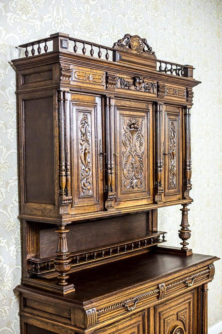 Renaissance Revival Neo-Renaissance Oak Cupboard, circa 1890 For Sale