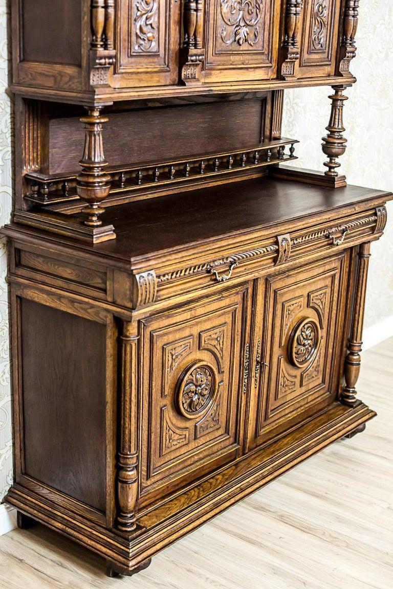 French Neo-Renaissance Oak Cupboard, circa 1890 For Sale