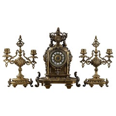 Neo-Renaissance Style Mantel Set 19th Century Sicle