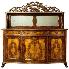 Neo-Rococo Walnut Cupboard or Buffet, circa 1850