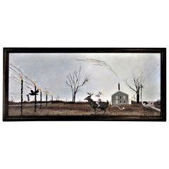 Neo Surrealist Macabre Dreamscape Painting