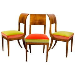 Neoclassic Biedermeier Side Chairs, 3 Available