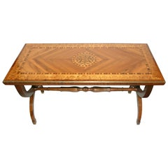 Neoclassic French Marquetry Coffee Table