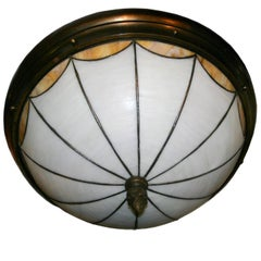 Neoclassic Leaded Glass Fixture