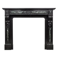 Neoclassic Noir De Mazy Black Antique Fireplace