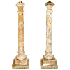 Neoclassic Onyx Table Lamps
