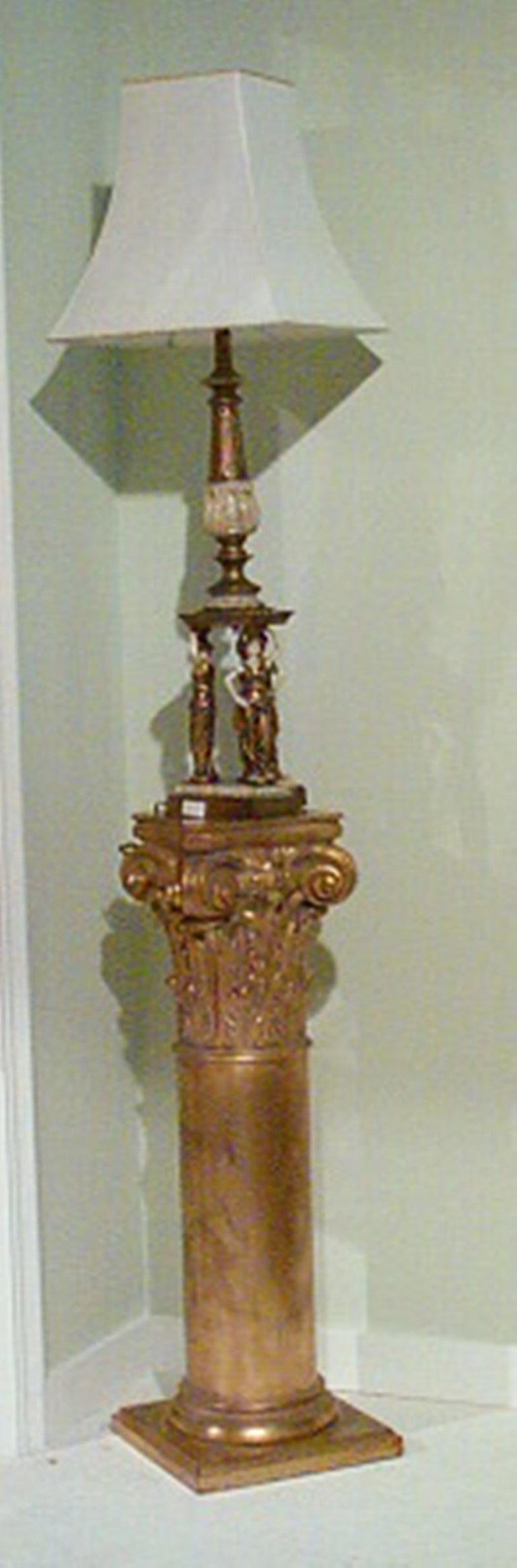 Neoclassical Neoclassic Pedestal, Flower Holder Column