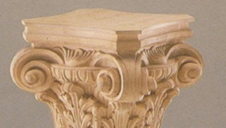 Italian Neoclassic Pedestal, Flower Holder Column