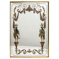 Neoclassical 1940s Mirror in the Style of Robert Pansart