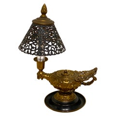 Neoclassical Aladdins Lamp and Shade