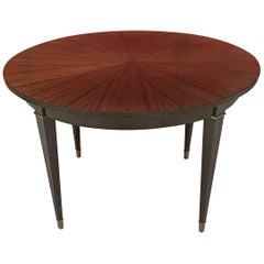 Neoclassical Art Deco Table in Mahogany circa 1950 the Varnish is Insolarized