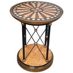 Neoclassical Biedermeier Style Hand Painted Pedestal Stand Side Table Dining