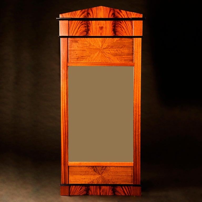 Contemporary Tas de Bois series Neoclassical Biedermeier Style Wall Mirror For Sale