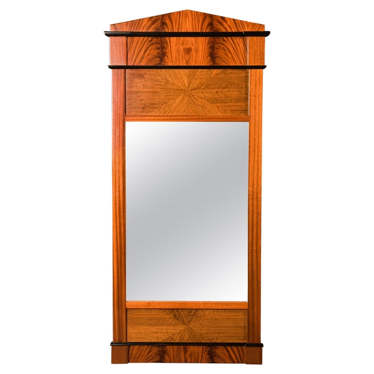 Tas de Bois series Neoclassical Biedermeier Style Wall Mirror For Sale