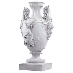 Neoclassical Bisque Porcelain Urn
