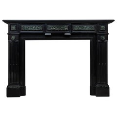 Neoclassical Black Marble Antique Fireplace