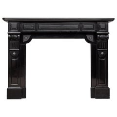 Neoclassical Black Noir de Mazy Antique Fireplace