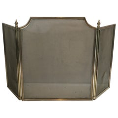 Neoclassical Brass and Brass Grilling Fire Place Screen 'Grilling a little bit d