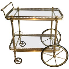 Neoclassical Brass Drinks Trolley, French, circa 1970