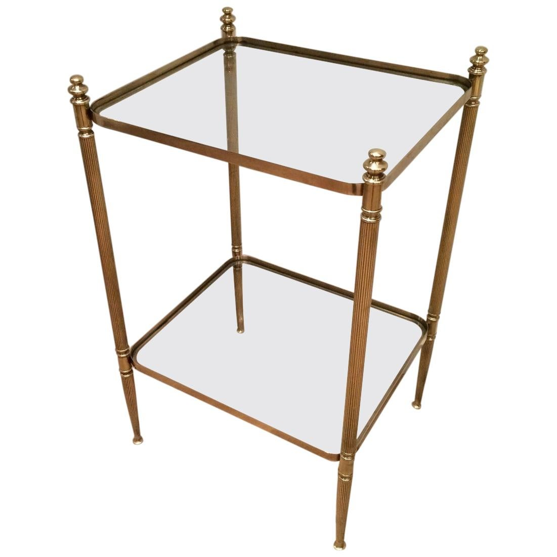 Neoclassical Brass Side Table, French, circa 1940