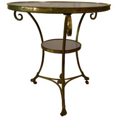 Neoclassical Bronze and Marble Empire style Gueridon Table, Two-Tier