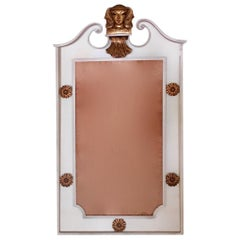 Neoclassical Bronze and Wrought Iron Mirror Attributed to René Prou, France 1937