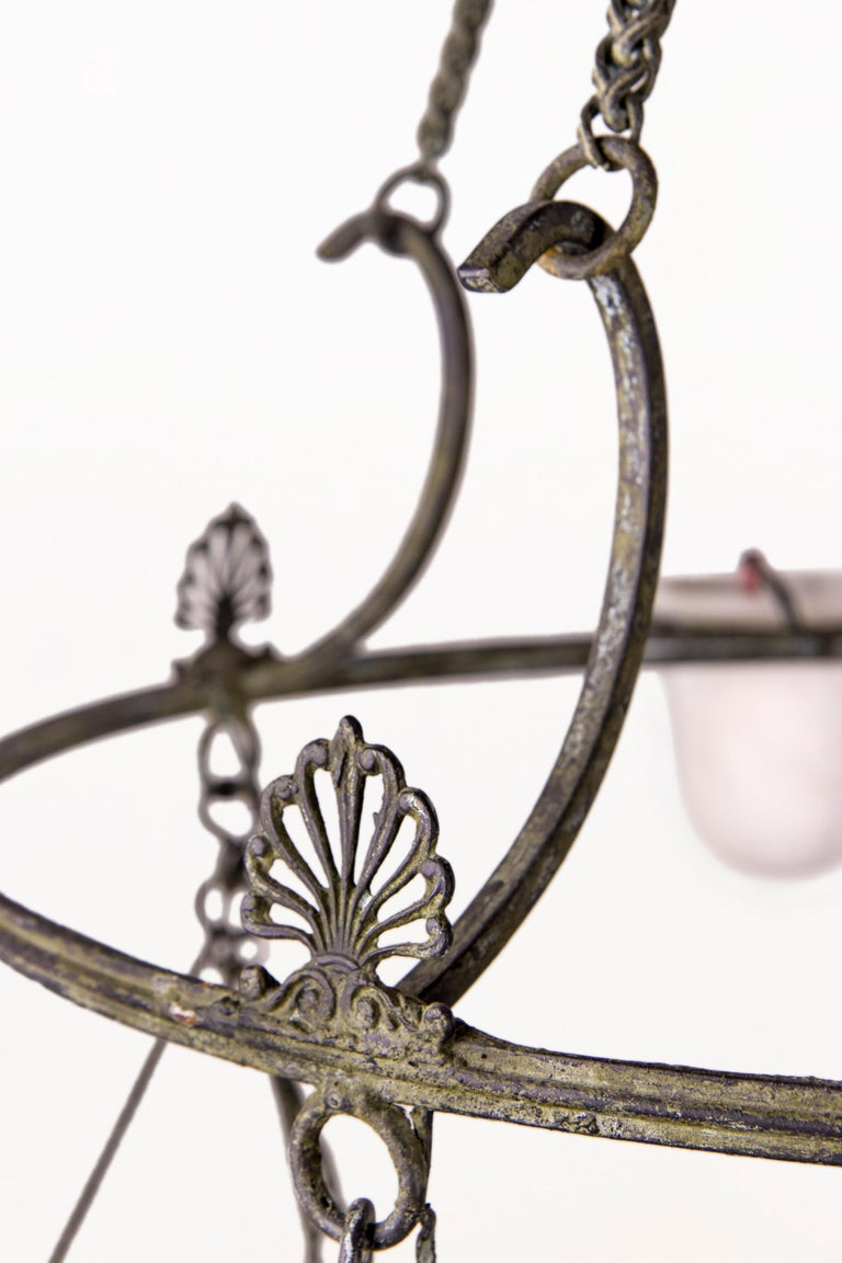Neoclassical Bronze Chandelier, circa 2000 France For Sale 1