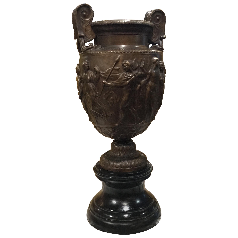 Neoclassical Bronze Urn Signed Ferdinand Barbedienne
