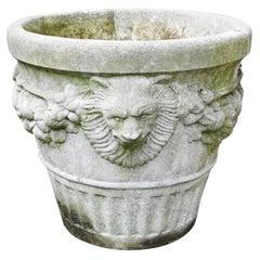 Neoclassical Cast Stone Garden Planter