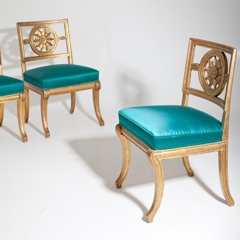 Wood Neoclassical Chairs, Berlin First Half of the 19th Century For Sale