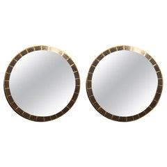Neoclassical Circular Giltwood Mirrors